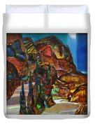 Night Serpentine Duvet Cover