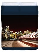 Night Shots Calgary Alberta Canada Duvet Cover