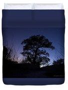night sky and trees in Molino Canyon Mount Lemmon AZ Duvet Cover