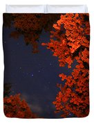 Night Sky By The Campfire Duvet Cover by Gray  Artus