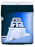 Night Taking Over The Day Of Church In Greece Crete 2 Duvet Cover