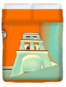Night Taking Over The Day Of Church In Greece Crete 3 Duvet Cover