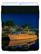 Night Time In Fort Lauderdale Duvet Cover