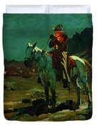 Night Time In Wyoming Duvet Cover