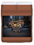 Night Vendor Duvet Cover by Wayne Gill