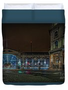 Night View Of Smithfield Market In North London Duvet Cover