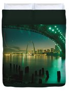 Night View Of St. Louis, Mo Duvet Cover