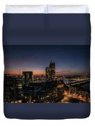 Night View Of The City Of London Duvet Cover