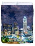 Night View Scenes Around Charlotte North Carolina Duvet Cover