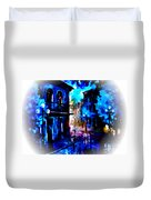 Night Walking In New Orleans Duvet Cover
