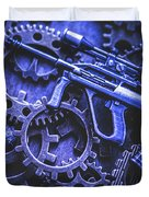 Night Watch Gears Duvet Cover