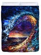 Night Wave Duvet Cover