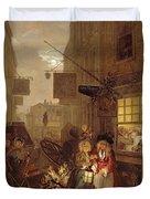 Night Duvet Cover by William Hogarth