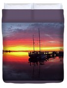 Night Winds Woman Duvet Cover