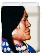 Night Woman, A Blackfeet Of Montana Duvet Cover