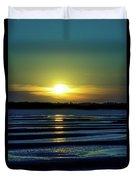 Nightfall At The Shore Duvet Cover