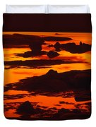 Nightfall Silhouettes Duvet Cover