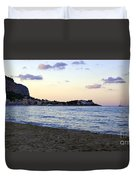 Nightfalls Over The Mediterranean Duvet Cover