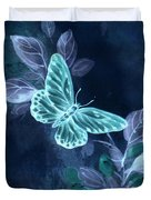 Nightglow Butterfly Duvet Cover by Writermore Arts
