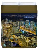 Nightlife On The Other End Of Robson Street Duvet Cover