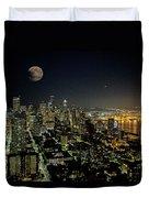 Nightlights Seattle Washington  Duvet Cover