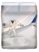 Nightmare At 20 Thousand Feet Duvet Cover by Ericamaxine Price