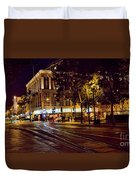Nights, Lights Downtown Sj Duvet Cover