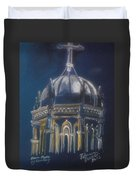 Nights Of Lights Presbyterian Memorial Church St Augustine Florida  Duvet Cover