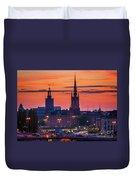 Nightsky Over Stockholm Duvet Cover
