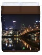 Nighttime In The City Duvet Cover