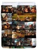 Nighttime Scooters, Hanoi Duvet Cover