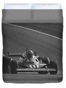 Niki Lauda. 1977 French Grand Prix Duvet Cover