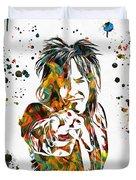 Nikki Sixx Paint Splatter Duvet Cover