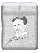 Nikola Tesla In His Own Words Duvet Cover
