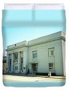 Niles, Ohio - Vintage Bank Duvet Cover