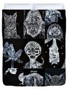 Nine Animals - Version 3 Duvet Cover