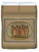 Nine Ojibbeway Indians In London Duvet Cover
