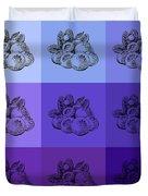 Nine Shades Of Blueberries Duvet Cover