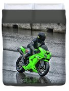 Ninja In The Rain Duvet Cover