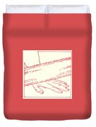 Ninth Station- Jesus Falls The Third Time Duvet Cover