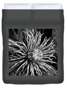 Niobe Clematis Study In Black And White Duvet Cover