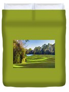 No. 5 Magnolia 455 Yards  Par 4 Duvet Cover
