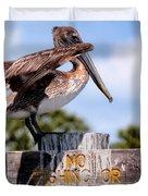 No Fishing Baby Pelican Duvet Cover