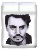 Johnny Depp Drawing By Sofia Furniel Duvet Cover
