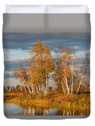 Crex Meadows At Sunset Duvet Cover