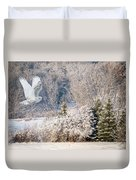 Snowy Owl Flight Duvet Cover