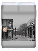No Left Turn - Selective Color Duvet Cover