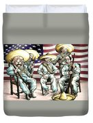 No Mexican Wall, Mister Trump - Political Cartoon Duvet Cover