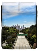 No More Cars In Los Angeles. Duvet Cover