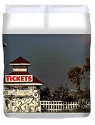 No More Tickets Duvet Cover